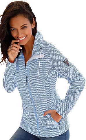 Флисовая куртка в узором