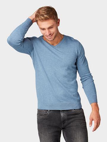 TOM TAILOR Пуловер с V-образным вырезом »Me...