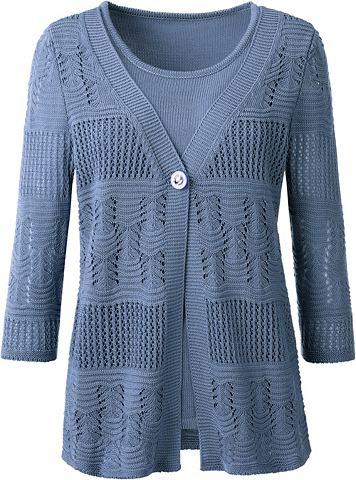 Пуловер в популярный 2-in-1-Stil