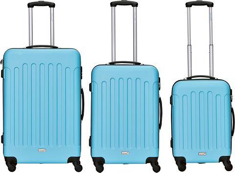 PACKENGER Пластиковый чемодан на колесах комплек...
