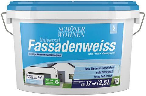 Красивый WOHNEN FARBE Fassadenweiss &r...