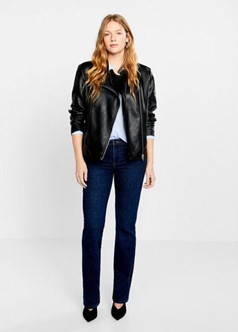 Куртка с асимметричный Zipper