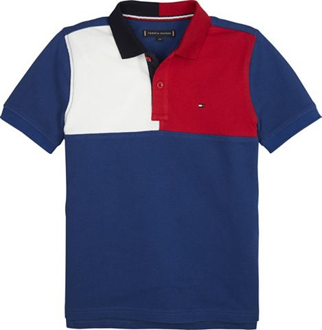 TOMMY HILFIGER Polos »COLORBLOCK футболка поло ...