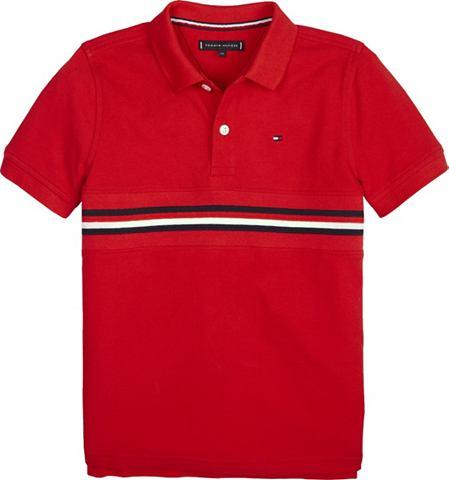 TOMMY HILFIGER Polos »FLAG INSERT футболка поло...