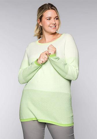 Sheego пуловер с круглым вырезом