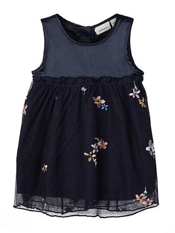 NAME IT Blumenbesticktes платье из тюля платье...