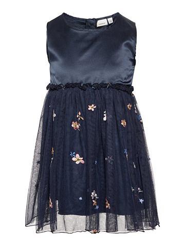Blumenbesticktes тюль платье