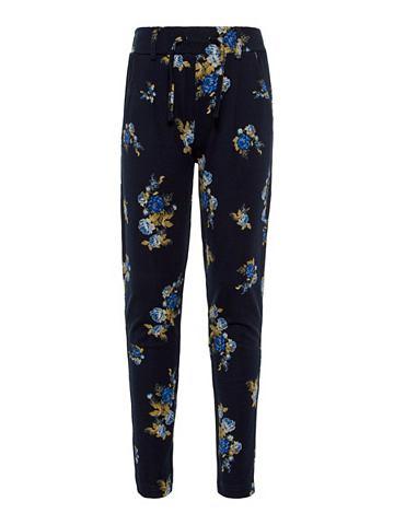 Цветочным узором брюки