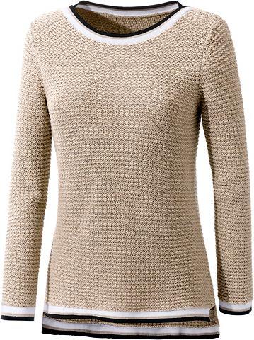 Пуловер с декоративный Strickmuster во...
