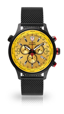 DETOMASO Часы-хронограф »AURINO BLACK YEL...