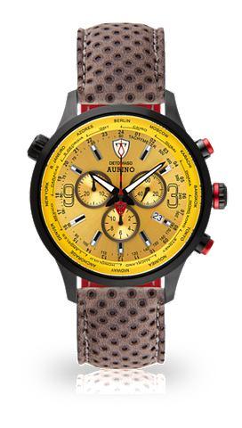 Часы-хронограф »AURINO BLACK YEL...