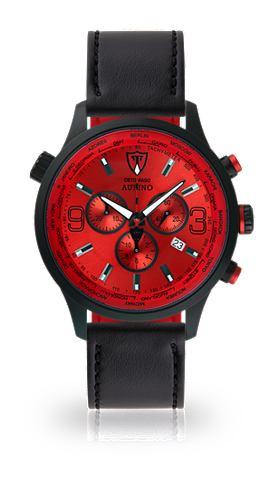 Часы-хронограф »AURINO BLACK RED...