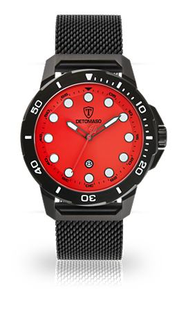 DETOMASO Часы »USTICO BLACK BLACK RED&laq...