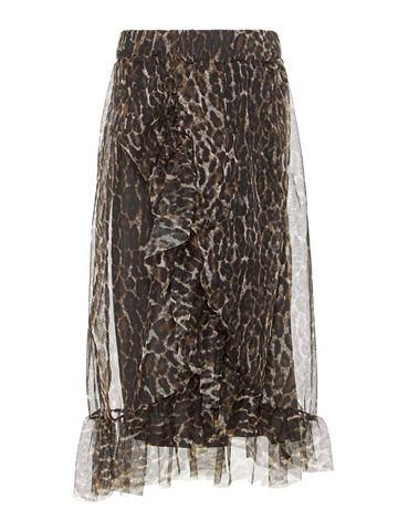 Длины миди сетка юбка