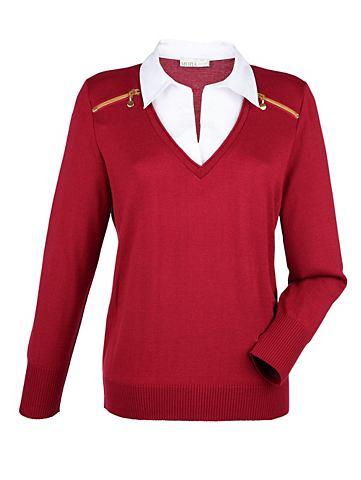 MONA 2 в 1 пуловер с Bluseneinsatz
