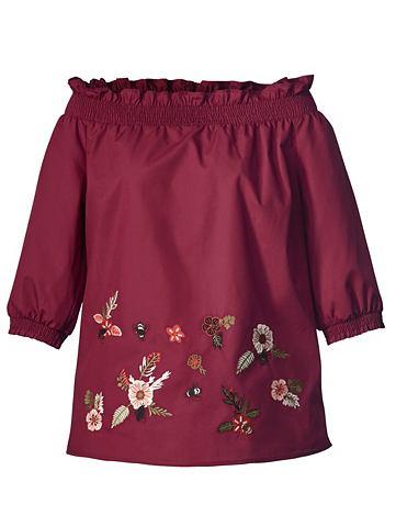 MONA Блузка на выпуск с вышивка