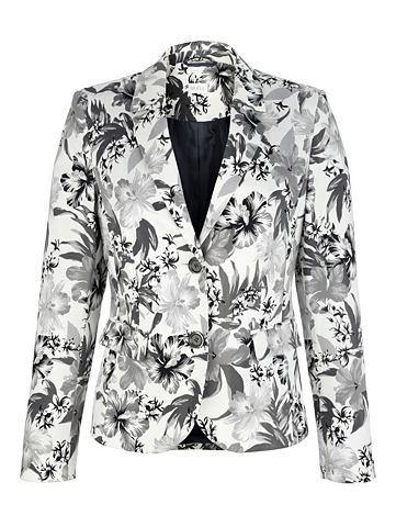 Пиджак с цветочный Druckdessin