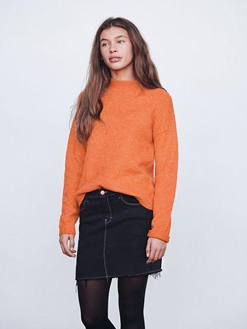 Короткий пошив трикотажный пуловер