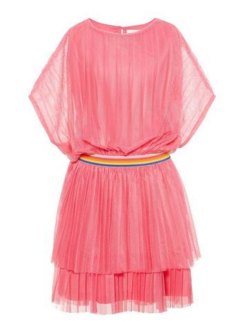 NAME IT Плиссированные ральфлоры сетка платье
