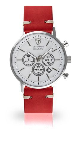 DETOMASO Часы-хронограф »MILANO XL SILVER...
