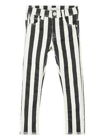 Полосатый Twillweb брюки