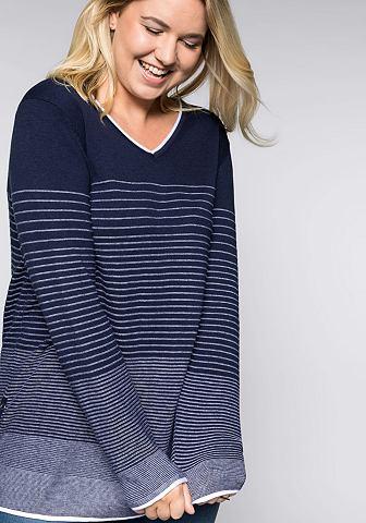 SHEEGO CASUAL Sheego пуловер с V-образным вырезом