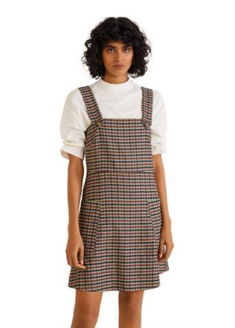 MANGO Клетчатый юбка с пуговицы