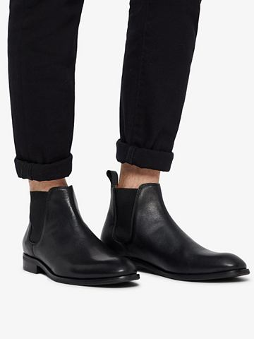 ABBOT кожа Chelsea ботинки