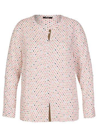 FRAPP Модная блуза с Allover-Herzen