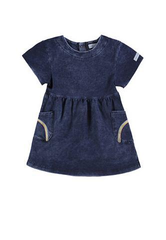Платье джинсовое с короткими рукавами