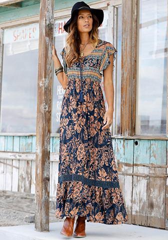 Платье-макси длинное