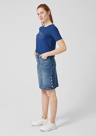 Юбка джинсовая с Knopf-Details