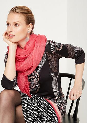 Нежный шарф с Fransenverzierungen