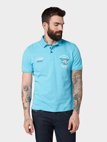 TOM TAILOR Футболка Поло рубашка с Stickerei&laqu...