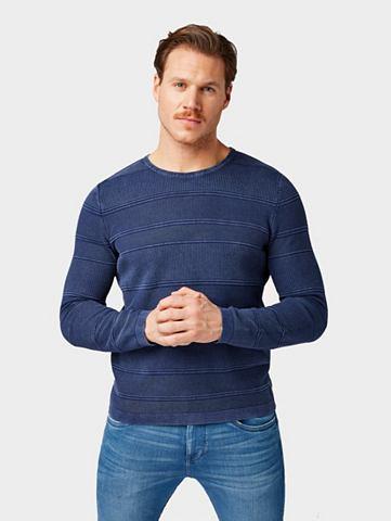 TOM TAILOR Трикотажный пуловер »Gestreifter...