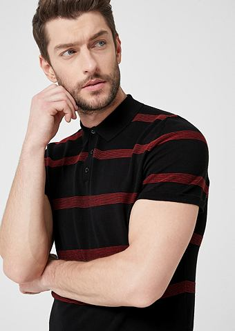 Knitted-Poloshirt с Streifen
