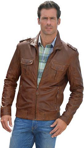 Classic куртка кожаная с Umlegekragen