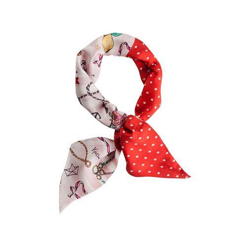 CODELLO Mini шарф с сочетание узоров