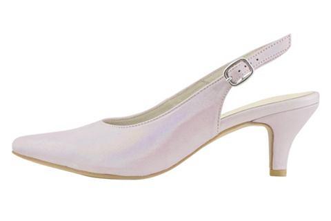 Туфли с открытой пяткой с Glanzeffekt