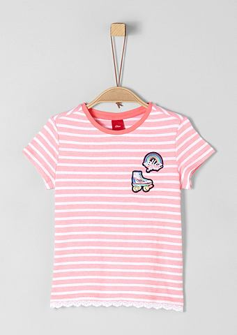 S.OLIVER RED LABEL JUNIOR Полосатая футболка с пятна для Mä...