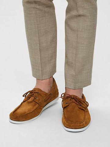 Кожаная ботинки ботинки