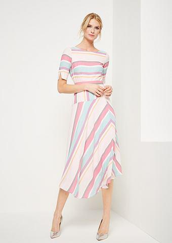 Платье шифоновое с узор