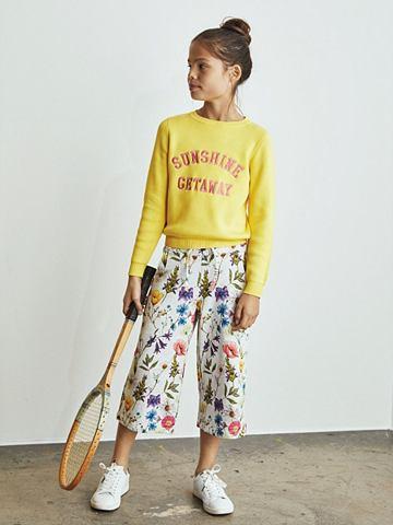 Цветочным узором брюки кюлоты брюки