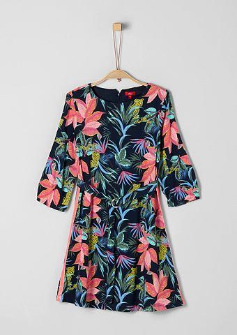 S.OLIVER RED LABEL JUNIOR Платье из вискозы с Exotic-Print для M...