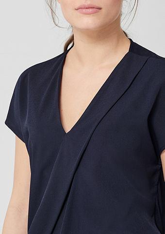 TRIANGLE Блузка-рубашка с eleganter Dekofalte