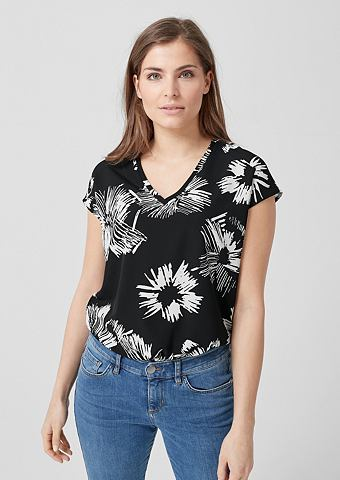 TRIANGLE Блузка-рубашка с повторяющийся узор