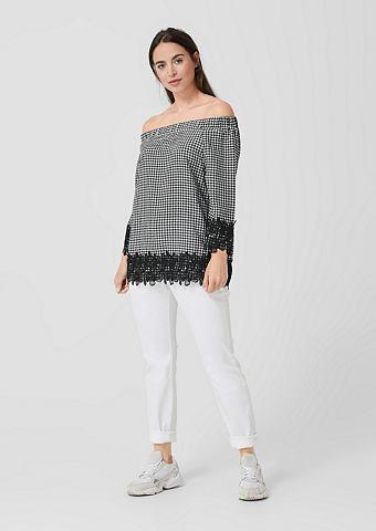 Блузка в стиле кармен с Spitzenblende