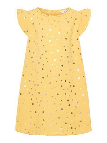 Goldgepunktetes платье