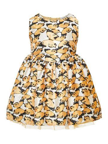 Schmetterlingsprint жаккард платье