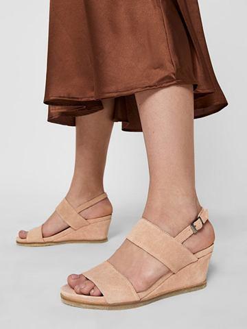 Кожа Keilabsatz сандалии